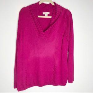 Coldwater Creek magenta pink knit sweater